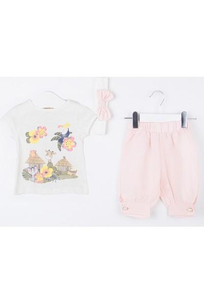 Serkon Kız Bebek Çocuk Krinkıl 3'lü T-Shirt Takım 6 - 24 ay Serkon 4321