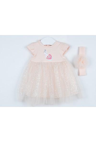 Serkon Kız Bebek Çocuk Kuğu Elbise 2'li Takım 3 - 18 ay Serkon 4306