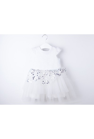 Serkon Kız Bebek Çocuk Pullu Papatya Lüx Elbise 2 - 3-5 - 6 Yaş Serkon 4326