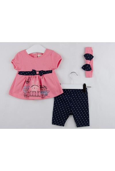 Serkon Kız Bebek Çocuk Taytlı 3'lü Takım 3 - 18 ay Serkon 4814