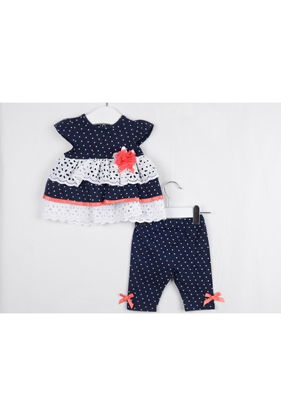 Serkon Kız Bebek Çocuk Tunik 2'li Taytlı Lüx Takım 6 - 24 ay Serkon 4304