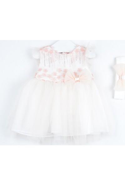 Serkon Kız Bebek Çocuk Tüllü Elbise 2'li Takım 6 - 24 ay Serkon 4383