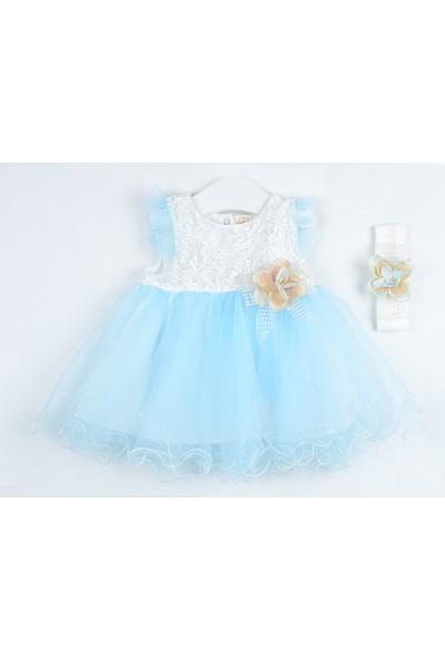 Serkon Kız Bebek Çocuk Tüllü Elbise 2'li Takım 6 - 24 ay Serkon 4390