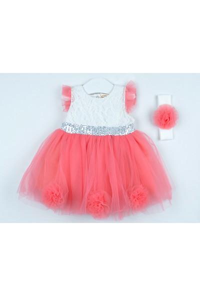 Serkon Kız Bebek Çocuk Tüllü Elbise 2'li Takım 6 - 24 ay Serkon 4422