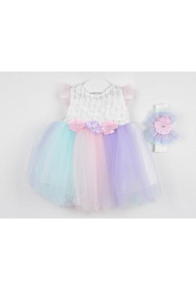 Serkon Kız Bebek Çocuk Unicorn Elbise 2'li Takım 6 - 24 ay Serkon 4367
