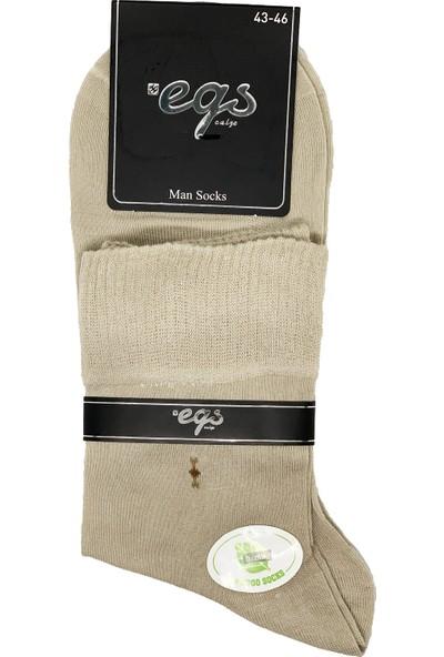 Egs Erkek Diabetik Ortakonç Bambu Çorap 4'lü Paket