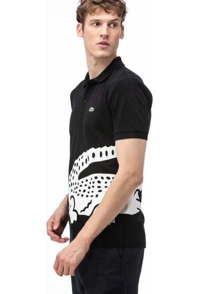 Lacoste Erkek Regular Fit Baskılı Siyah Polo PH5284.031