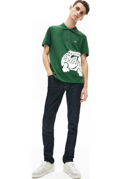 Lacoste Erkek Regular Fit Timsah Baskılı Yeşil Polo PH5284.132