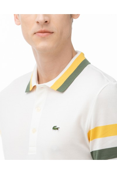 Lacoste Erkek Slim Fit Beyaz Polo PH0012.12E