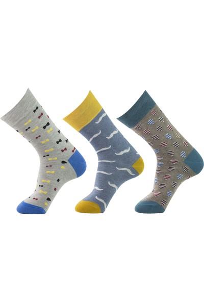 Roff Andora Penye Resimli Erkek Çorabı 6'lı