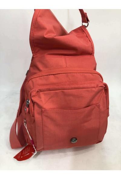 Smart Bags Kadın Sırt Ve Kol Çantası Krinkıl Kumaş Ebat 34Cm32Cm Somo