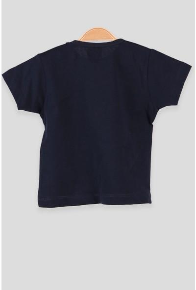 Breeze Erkek Bebek T-Shirt Patlı Baskılı Lacivert (1-4 Yaş)