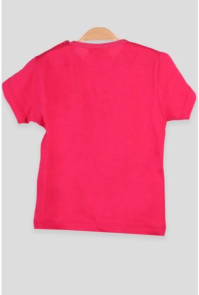 Breeze Kız Bebek T-Shirt Patlı Kız Baskılı Fuşya (1-4 Yaş)