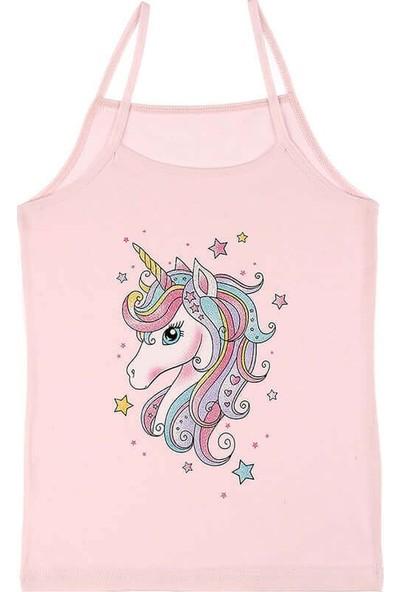 Donella Unicorn Baskılı Kız Çocuk Atlet - 4371PU