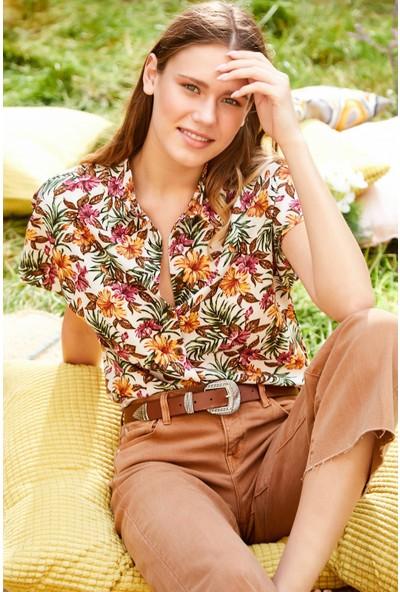 New Laviva Çok Renkli Kadın Gömlek