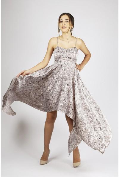 Favori Leopar Desenli Elbise