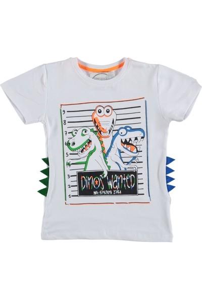 Whoops Erkek Çocuk Dar Kalıp Dinazor Desenli Tişört