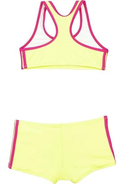 Bombi Kız Çocuk Yüzücü Bikini Neon Sarı 194211
