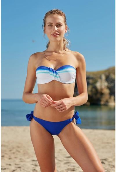 Marie Claire Kaplı Straplez Bikini Takım 207397 Desenli