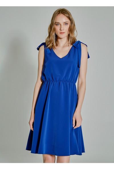 People By Fabrika Kadın Askısı Bağlamalı Elbise