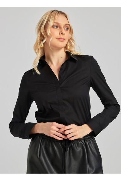 People By Fabrika Kadın Basic Gömlek