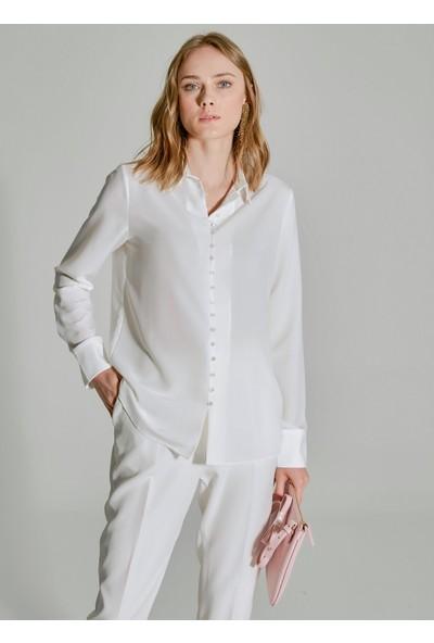 People By Fabrika Kadın Düğme Detaylı Gömlek