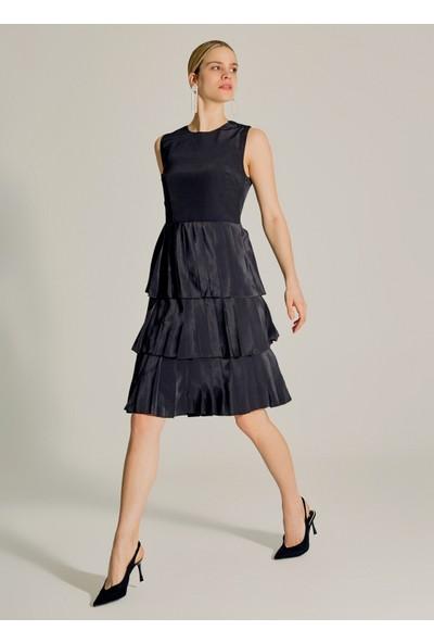 Ngstyle Kadın Eteği Geniş Pilili Midi Elbise