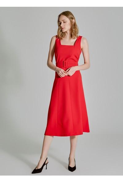 People By Fabrika Kadın Kemerli Elbise