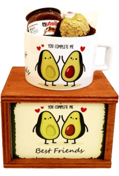 Hanbeyi Best Friends Avokado Kutulu Kupası Çikolata Set