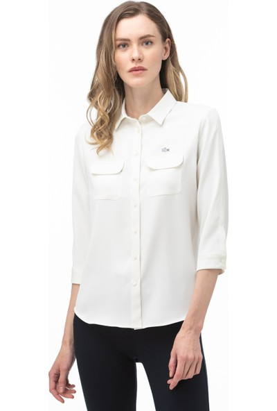 Lacoste Kadın Beyaz Gömlek CF0002.02A