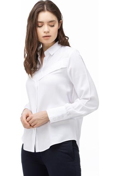 Lacoste Kadın Beyaz Gömlek CF0012.12A