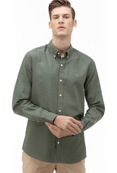 Lacoste Erkek Slim Fit Yeşil Gömlek CH0846.46Y