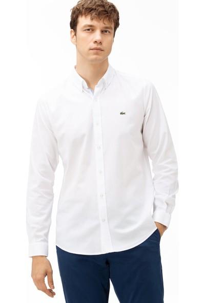 Lacoste Erkek Slim Fit Beyaz Gömlek CH4976.001