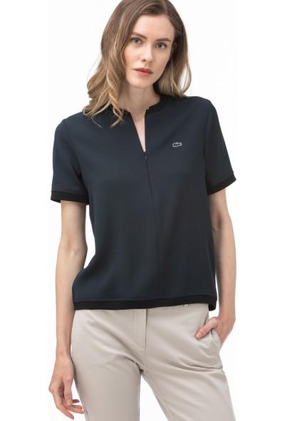 Lacoste Kadın Fermuarlı Yaka Lacivert Bluz PF0004.04L