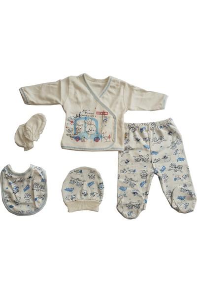 Mini Teti Sevimli Tavşan Erkek Bebek 5 Parça Takım 66519