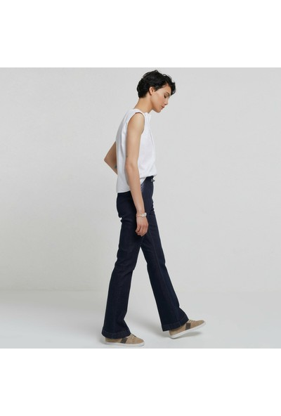 Yargıcı Cep Detaylı Denim Pantolon
