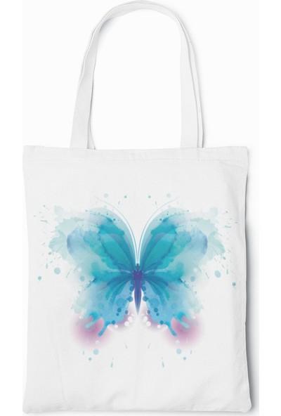 Tshigo Blue Butterfly Beyaz