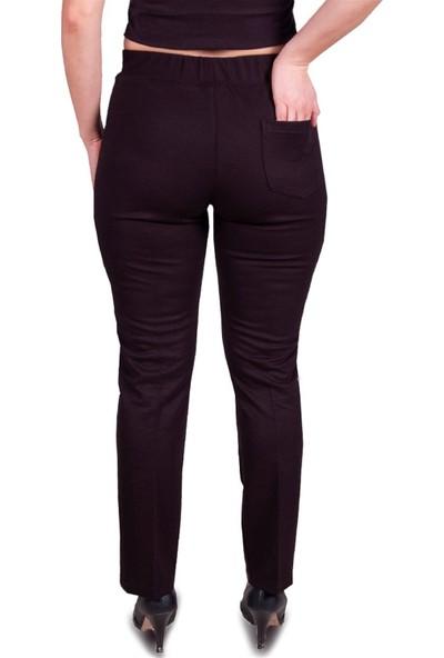 MELAY Likralı Beli Lastik Kemerli Kadın Pantolon