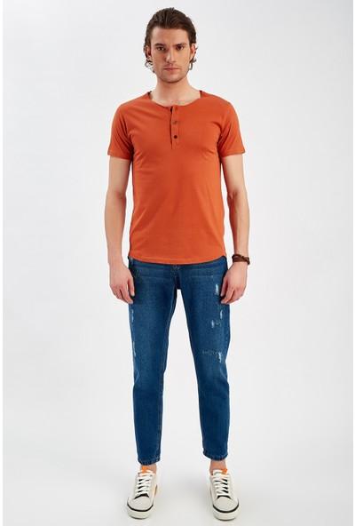 Manche Tarçın Erkek Yarim Patli T-Shirt