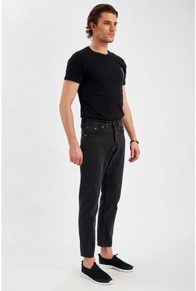 Manche Füme Bilek Boy Mom Jean Erkek Pantolon