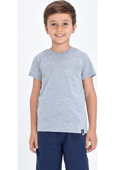 TS Club Trabzonspor Bisiklet Yaka Ince Şeritli T-Shirt