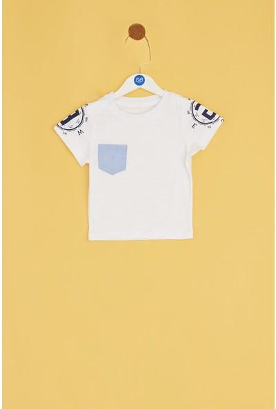 BG Baby Erkek Bebek Beyaz T-Shirt