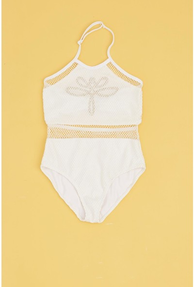 Tyess Kız Çocuk Beyaz Mayo