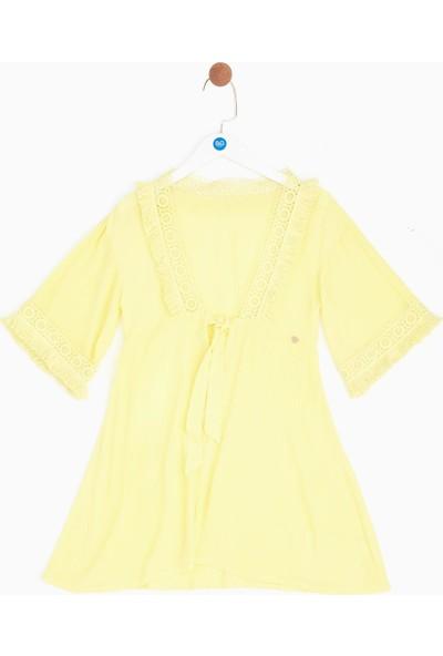 Tyess Kız Çocuk Sarı Pareo