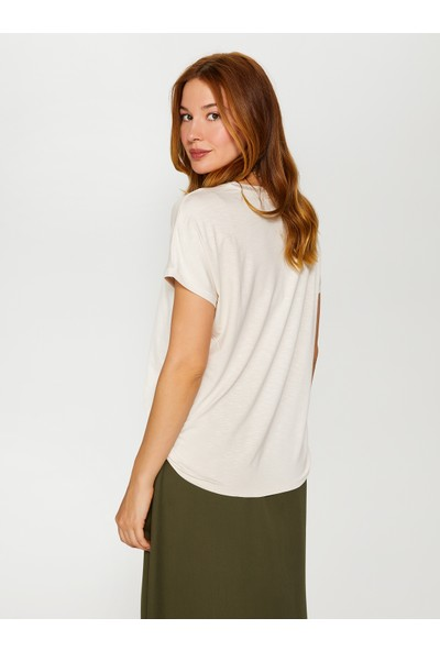 Faik Sönmez Yuvarlak Yaka T-Shirt 60016