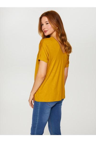 Faik Sönmez V Yaka T-Shirt 60017