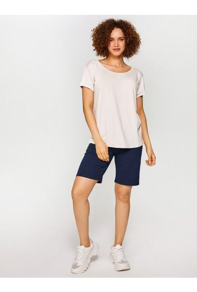 Faik Sönmez Yuvarlak Yaka Düşük Kollu T-Shirt 60020