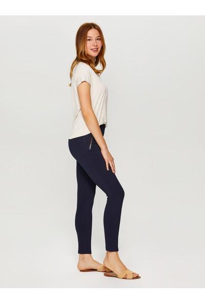 Faik Sönmez Skinny Fit Çelikli Örme Pantolon 60066