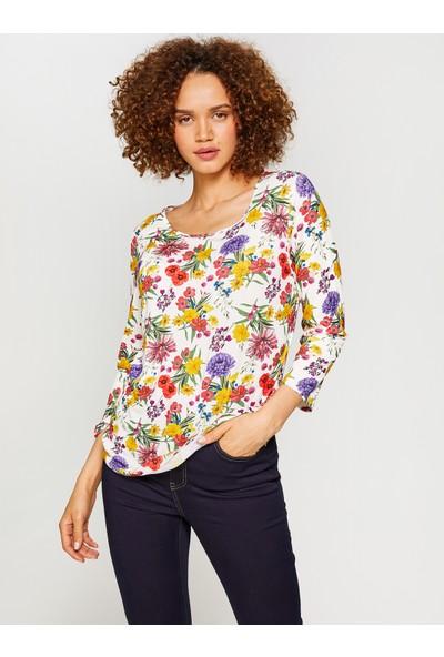 Faik Sönmez Desenli T-Shirt 60616