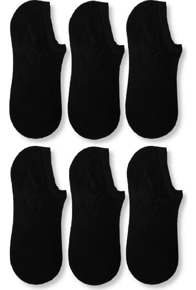 Carrier Plus Erkek Siyah Bambu Görünmez Spor Ayakkabı Çorabı 6' Lı